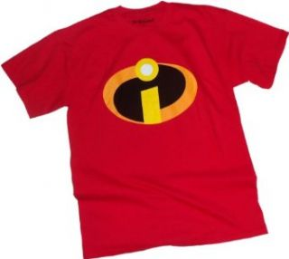 Disney The Incredibles Basicon Adult Red T Shirt: Clothing