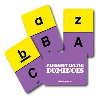 Alphabet Letter Dominoes: Toys & Games