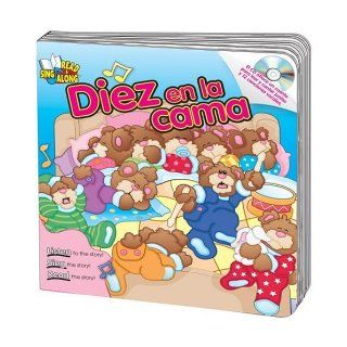Diez en la cama (Ten in the Bed) Read & Sing Along Board Book With CD (Read & Sing Along Board Books with CDs) (Spanish Edition): Kim Mitzo Thompson, Karen Mitzo Hilderbrand, Tammy Ortner: 9780769649368:  Children's Books