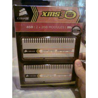 Corsair XMS3 4GB (2x2GB) DDR3 1333 MHz (PC3 10666) Desktop Memory (TW3X4G1333C9DHX) Electronics