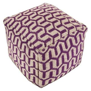 Pouf: Threshold Pouf   Jute/Purple