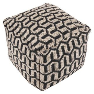 Pouf: Threshold Pouf   Jute/Navy