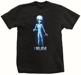 T shirt I Believe Area 51 Alien Black Wonder Tshirt( Xtra small) : Mugs : Everything Else