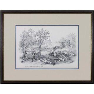 Art: Battle of Monmouth June 28, 1778 : Lithography : Kurz & Allison