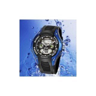 OHSEN AD0805 2 Water Resistant Mens Watch Quartz Multi Function Date Sport Wrist Watch   Blue   BY KSSHOPPING: Vehicle Tv Tuners : Car Electronics
