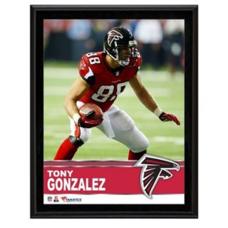 Tony Gonzalez Atlanta Falcons Sublimated 10.5 x 13 Plaque