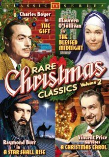 "Ultimate Christmas Gift, Volume 3. 5 disc set incl. 1 DVD containing rare TV Christmas Classics: Charles Boyer in ""The Gift"", Maureen O'Sullivan in ""The Blessed Midnight"", Ramond Burr in ""A Star Shall Rise"", and Vincent Pr"