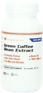 Green Coffee Bean Extract, 800 mg Per Serving, 60 Capsules Per Bottle (Contains Some Chlorogenic Acid). 100% Pure All Natural Weight Loss Formula. Full 30 Day Supply. Max Green Coffee Per Serving. 400 mg Per Capsule. Health & Personal Care