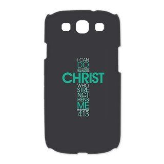 Michael Doing I Can Do All Things Through Christ Who Strengthens Me   Bible Quote iPhone Case   Cross Iphone WWE 2012 Wrestling Champion The Legend Killer Orton DIY Best Durable Case Samsung Galaxy S3 I9300 (3D) For Custom Design: Cell Phones & Accesso