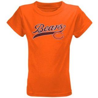 Chicago Bears Youth Girls Glitter Land T Shirt   Orange