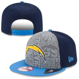 Mens New Era Navy Blue San Diego Chargers 2014 NFL Draft 9FIFTY Snapback Hat