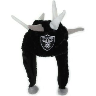 Oakland Raiders Spike Dangle Hat   Black
