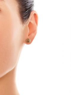 Yellow gold sad face single stud earring  Alison Lou  MATCHE