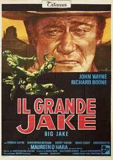 Big Jake 1971 Original Italy Due Fogli Movie Poster George Sherman John Wayne John Wayne, Richard Boone, Patrick Wayne, Christopher Mitchum Entertainment Collectibles