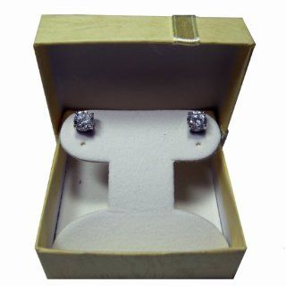 Sterling .925 Heavy Silver Earring with Cubic Zirconia Clear White CZ stone From 3.00 MM (0.20 CT) to 8.00 MM (2.00 CT) Total Weight with FREE GIFT BOX . Silver CZ Earring / Total 6 Sizes different Price (3.00 MM ( 0.20 CT TOTAL WEIGHT ) + FREE BOX)   Cell