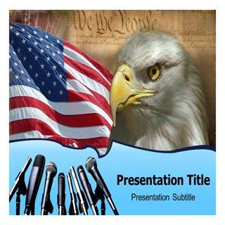 Media And Democracy PowerPoint Template   PowerPoint Templates on Media And Democracy Software
