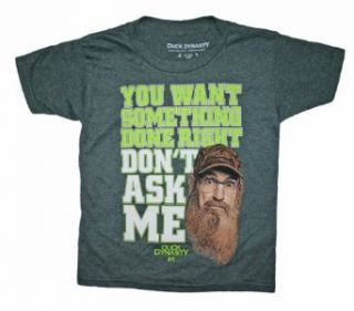 "Duck Dynasty Boys Sz 4 16 ""You Want Something Done Right"" T Shirt: Fashion T Shirts: Clothing"