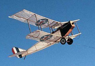 Curtiss Jenny Squadron Model Airplane Kite Kit: Toys & Games