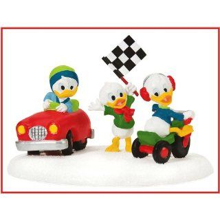 Department 56 Mickey's Merry Christmas Village   Huey, Dewie and Louie Little Race Cars Accessory   Collectible Figurines
