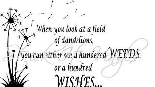 When You Look At A Field Of Dandelions, You Can Either See A Hundred Weeds, Or A Hundred Wishes wall saying vinyl lettering art decal quote sticker home decal