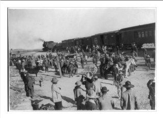 Historic Print (L): Gen. Salagar's troops [by train during the Mexican Revolution]