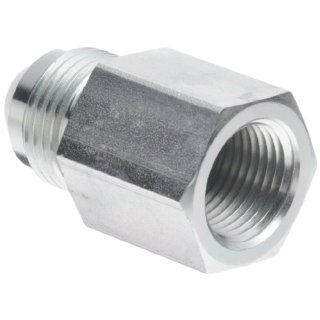 "Eaton Aeroquip 2022 6 8S Female Connector, Male 37 Degree JIC, Female Pipe Thread, JIC 37 Degree & NPT End Types, Carbon Steel, 1/2 JIC(m) x 3/8 NPT(f) End Size, 1/2"" Tube OD, 3/8"" Female Pipe Size Flared Tube Fittings Industrial & Scie"