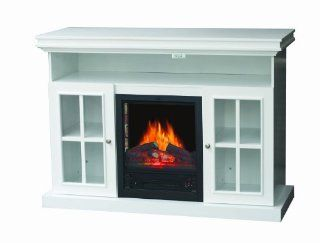 Shop Stonegate FP070310WH Media Console Electric Fireplace With 3D Flame Effect at the  Home D�cor Store
