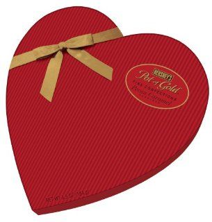 Valentines Hershey's Pot of Gold Pecan Caramel Clusters Heart Box, 6.5 Ounce : Chocolate Candy : Grocery & Gourmet Food
