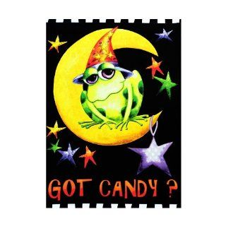 "Got Candy? Wizard Frog & Moon Halloween Flag   Small 12.5"" x 18"" For Garden House Patio Porch School Church Hotel Office Outdoor Banner Decorations, Etc. : Patio, Lawn & Garden"