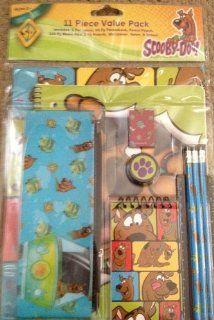 Scooby Doo 11 Piece School Value Pack   Folders, Theme Book, Pencils, Erasers, Etc: Toys & Games