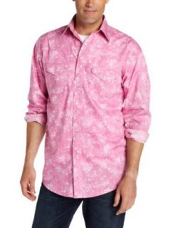 Wrangler Men's Tough Enough To Wear Breast Cancer Awareness Shirt, Pink/White, Large at  Men�s Clothing store: Button Down Shirts