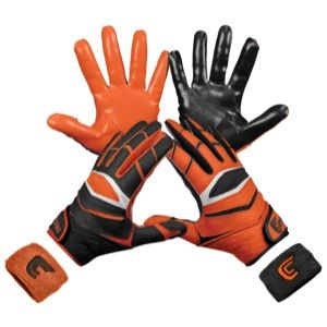 Cutters Yin Yang X40 Receiver Gloves   Mens   Football   Sport Equipment   Orange/Black