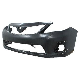 2011 Toyota Corolla Front Bumper Painted 1G3 Magnetic Gray Metallic, FOR S/XRS MODELS, EXCEPT JAPAN BUILT: Automotive