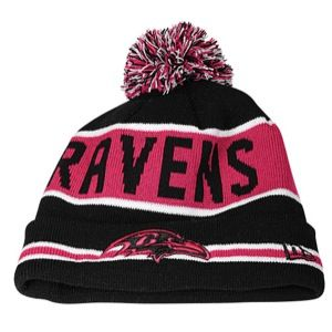 New Era NFL Breast Cancer Awareness Knit   Mens   Football   Accessories   Baltimore Ravens   Black/Pink