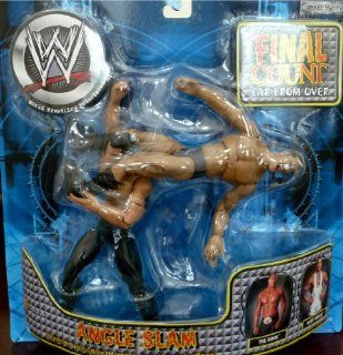 "the ROCK vs. KURT ANGLE WWE Final Count Far From Over""Angle Slam"" Figures: Toys & Games"