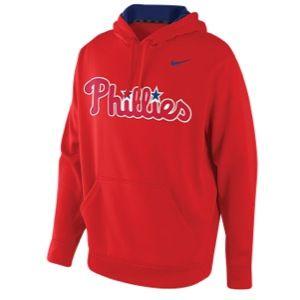 Nike MLB KO Performance Wordmark Hoodie   Mens   Baseball   Clothing   Philadelphia Phillies   Red