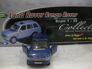 Welly 1/33 Scale Die Cast And Plastic Land Rover Range Rover (Blue) Pull Back And Go Action Toys & Games