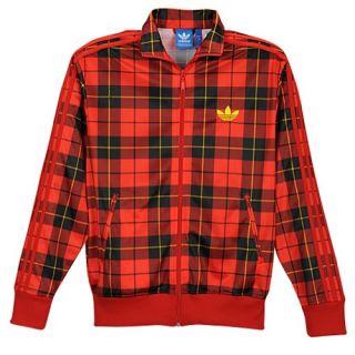 adidas Originals Firebird Full Zip Track Jacket   Mens   Casual   Clothing   Light Scarlet/Black/Vivid Yellow