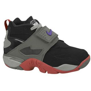 Nike Air Diamond Turf 2   Boys Grade School   Training   Shoes   Black/Mercury Grey/University Red/Electro Purple