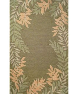 Trans Ocean Liora Manne Spello Fern Border Indoor/Outdoor Area Rug   Green   Area Rugs