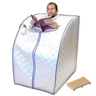 Portable Far Infrared Sauna with Ceramic Heater, Heating Panels and Foot Massager   X Large: Health & Personal Care