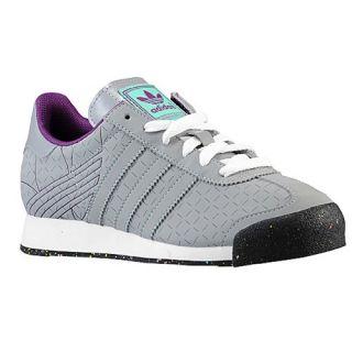 adidas Originals Samoa   Boys Grade School   Training   Shoes   Mid Grey/Bahia Mint/Tribe Purple