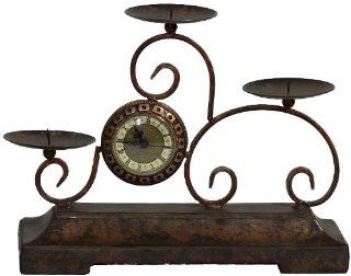 Essentials D�cor Entrada Collection Polyresin Candle Holder with Clock   Candleholders