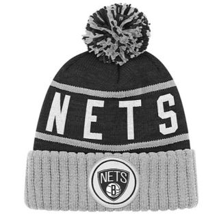 Mitchell & Ness NBA High Five Cuffed Knit Hat   Mens   Basketball   Accessories   Brooklyn Nets   Black/Grey/White