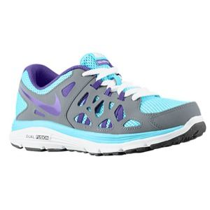 Nike Dual Fusion Run 2   Girls Grade School   Running   Shoes   Gamma Blue/Cool Grey/White/Electro Purple