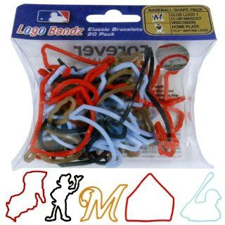 MLB Milwaukee Brewers Logo Bandz: Sports & Outdoors