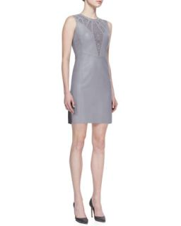 Womens Elena Leather Cutout Dress   Valentina Shah   Sting gray (12)