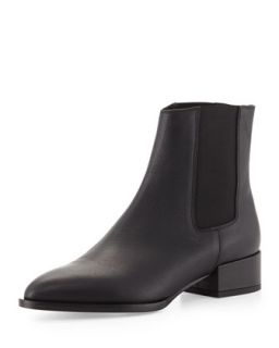 Yale Gored Low Heel Ankle Boot   Vince   Black (36.5B/6.5B)