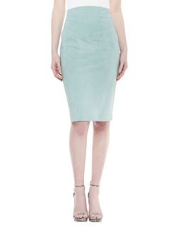 Womens Raised Waist Skirt, Jade   Donna Karan   Jade (4)