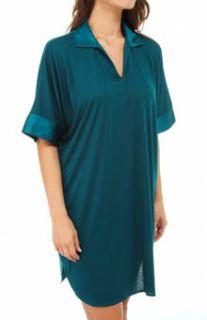 N by Natori Sleepwear VC2008 Congo Sleepshirt with Satin Accents